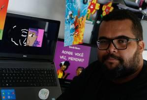 """Autor. Estevão Ribeiro com ilustrações do livro """"Aonde você vai, menina?, disponível para download gratuito na internet Foto: Roberto Moreyra / Agência O Globo"""