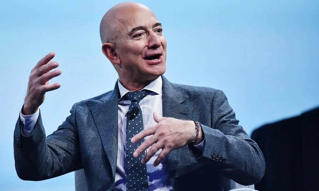 Jeff Bezos, dono da Amazon. Foto: MANDEL NGAN / AFP