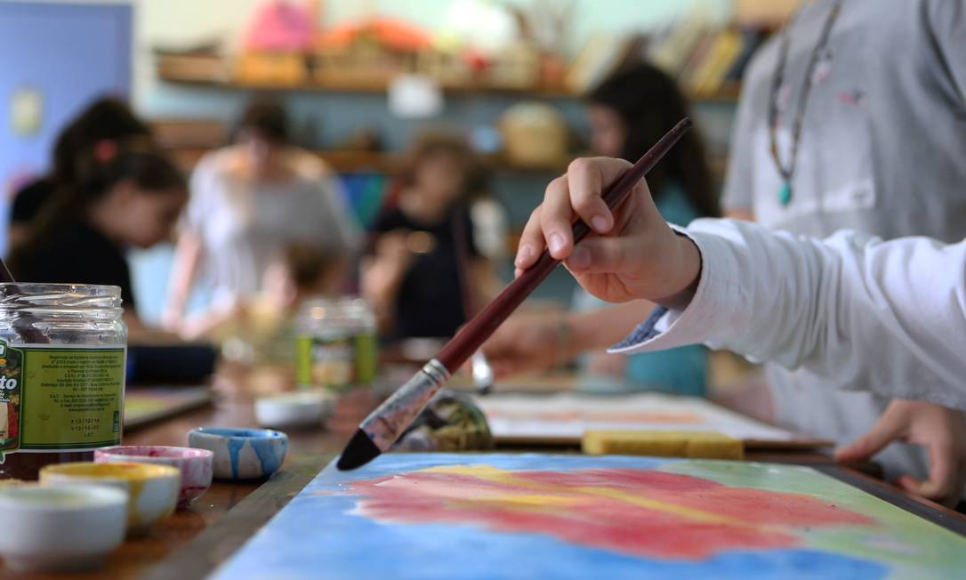 Waldorf. Jardim-Escola Michaelis aposta em arte como forma de ensino Foto: Guilherme Pinto / Guilherme Pinto