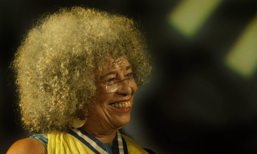 Angela Davis no Rio de Janeiro Foto: Antonio Scorza / Agência O Globo