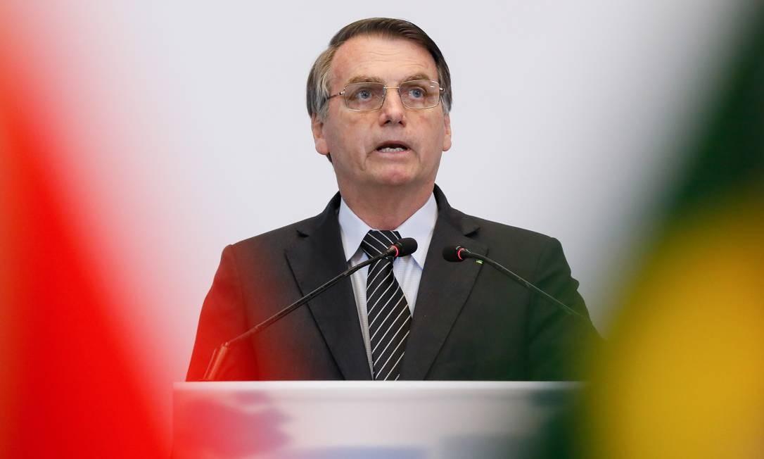 Presidente Jair Bolsonaro em viagem à Ásia Foto: Isac Nobrega / Presidência