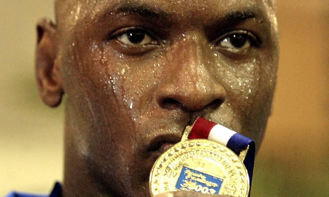 Mario Sabino nos Jogos Pan-Americanos deSanto Domingo, em 2003 Foto: Sergio Moraes / Reuters