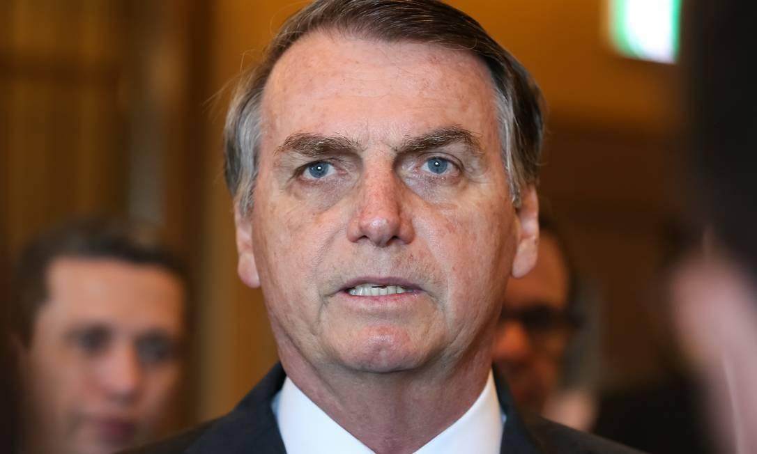 O presidente Jair Bolsonaro Foto: / Agência O Globo