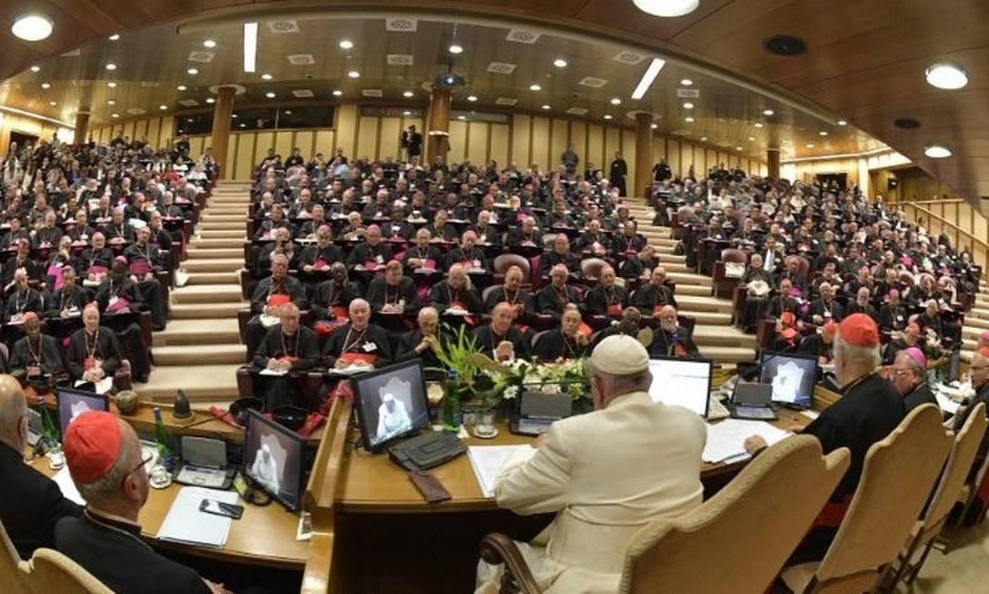 Papa encerra sínodo com bispos Foto: Divulgação/Vaticano