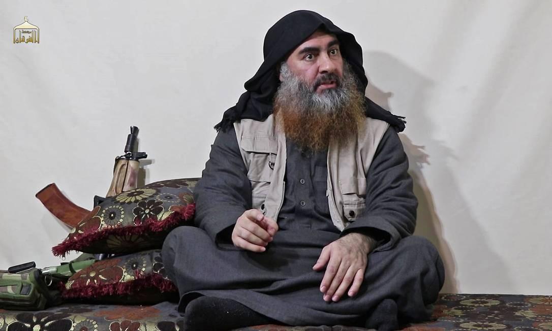 Líder do grupo extremista Estado Islâmico (EI), Abu Bakr al Baghdadi, pode sido morto durante um ataque militar nos Estados Unidos na Síria Foto: - / AFP