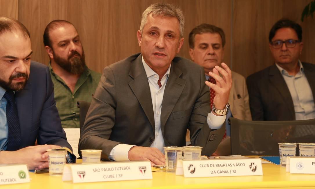 Presidente do Vasco, Alexandre Campello está em busca de investidores Foto: Thaís Magalhães