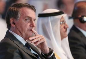 Bolsonaro disse que não pretendia cumprimentar Alberto Fernández pela vitória Foto: - / AFP