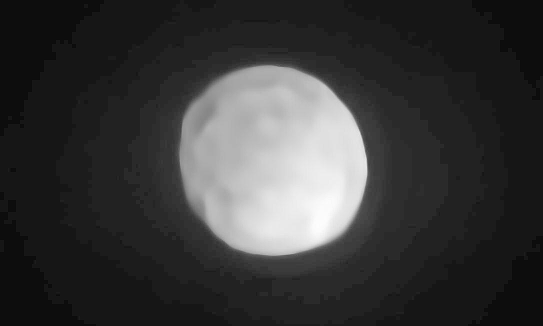 O planeta-anão Hígia, em imagem feita pelo VLT (Very Large Telescope), o maior telescópio do mundo, instalação do ESO (Observatório Europeu do Sul) em Cerro Paranal, no Chile Foto: P. Vernazza et al. / ESO