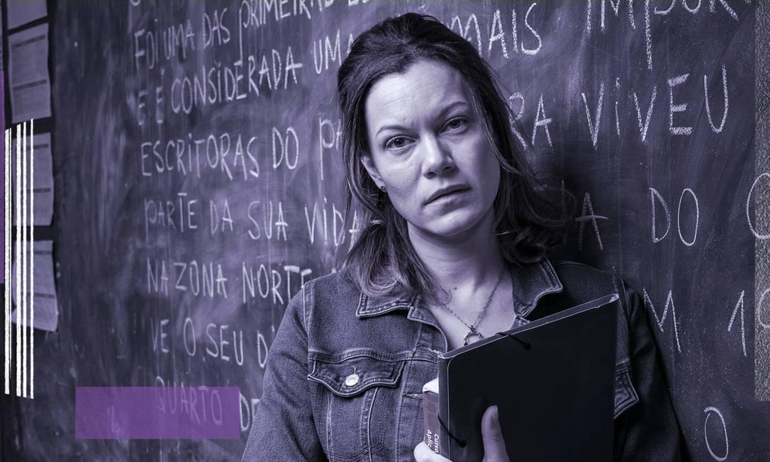 """Hermila Guedes interpreta a professora Sonia na série """"Segunda Chamada"""", da TV Globo Foto: Maurício Fidalgo / TV Globo"""