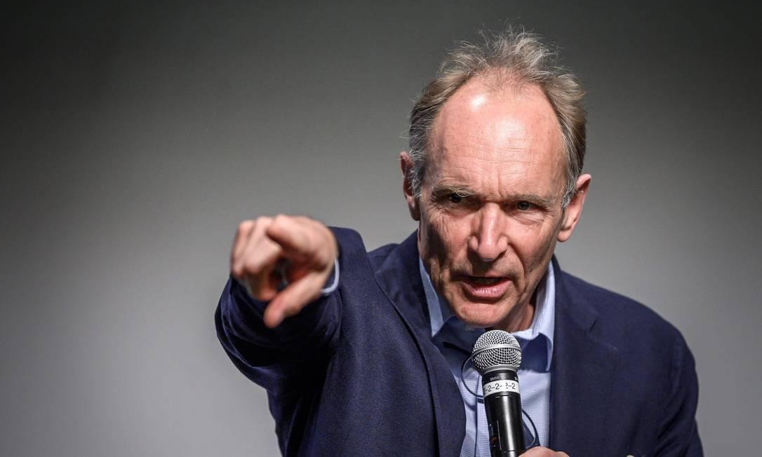Tim Berners-Lee, o inventor da World Wide Web Foto: FABRICE COFFRINI / AFP