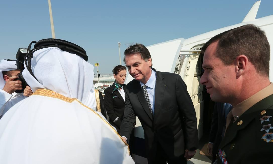 Presidente Bolsonaro faz uma série de visitas a países do Oriente Médio Foto: Valdenio Vieira / Presidência da República