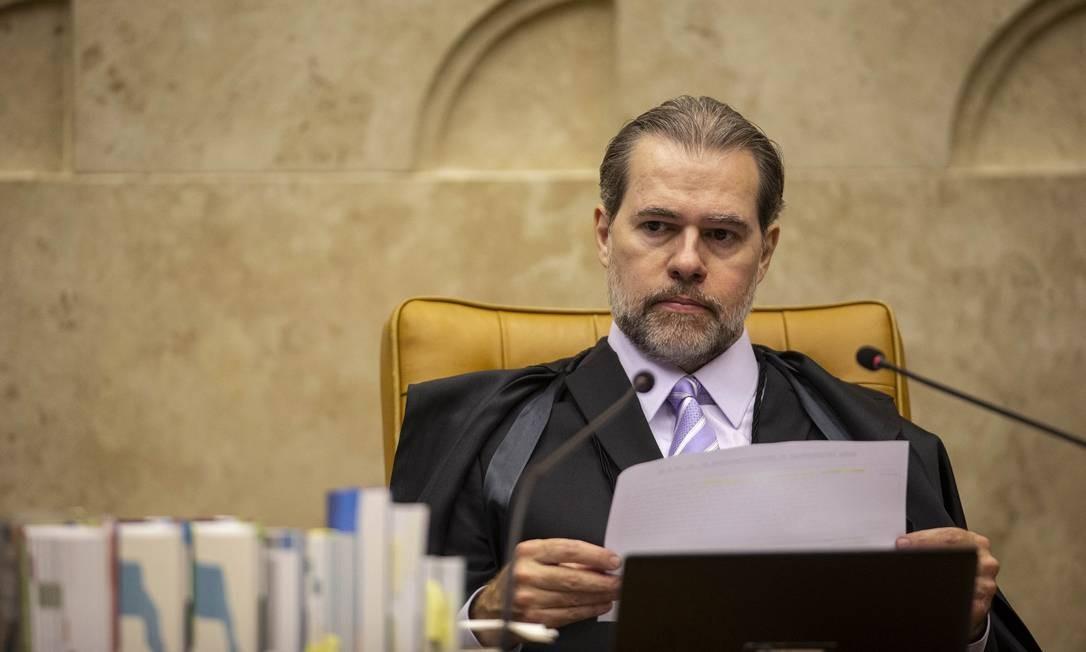 O presidente do Supremo Tribunal Federal, Dias Toffoli Foto: Daniel Marenco / Agência O Globo