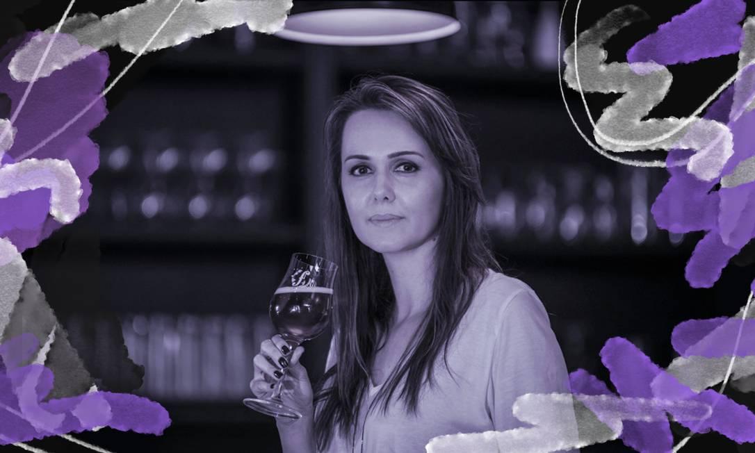 Fernanda Meybom é sommelière de cervejas, mestre em estilos e avaliação e harmonização de cervejas. Atua ainda como professora da Escola Superior de Cerveja e Malte e é juíza certificada pelo Beer Judge Certification Program (BJCP). Foto: Arte sobre foto de Stivy Malty