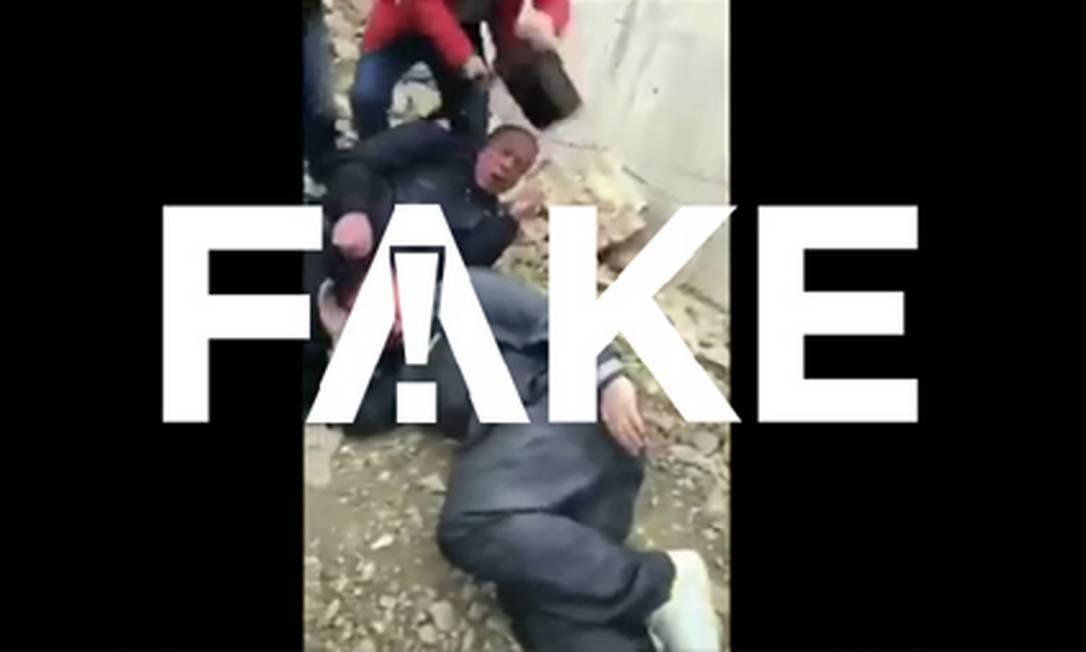 É #FAKE que vídeo mostra quadrilha detida com 300 crianças congeladas para venda de órgãos na China Foto: Reprodução