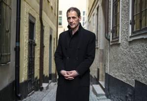 O jornalista e escritor sueco David Lagercrantz, autor que deu continuidade à série de livros