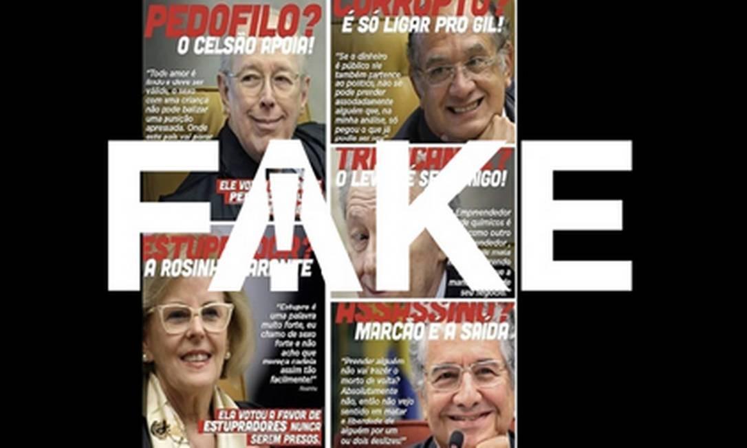 É #FAKE que ministros do STF deram declarações favoráveis a pedofilia, estupro, tráfico, assassinato e corrupção Foto: Reprodução