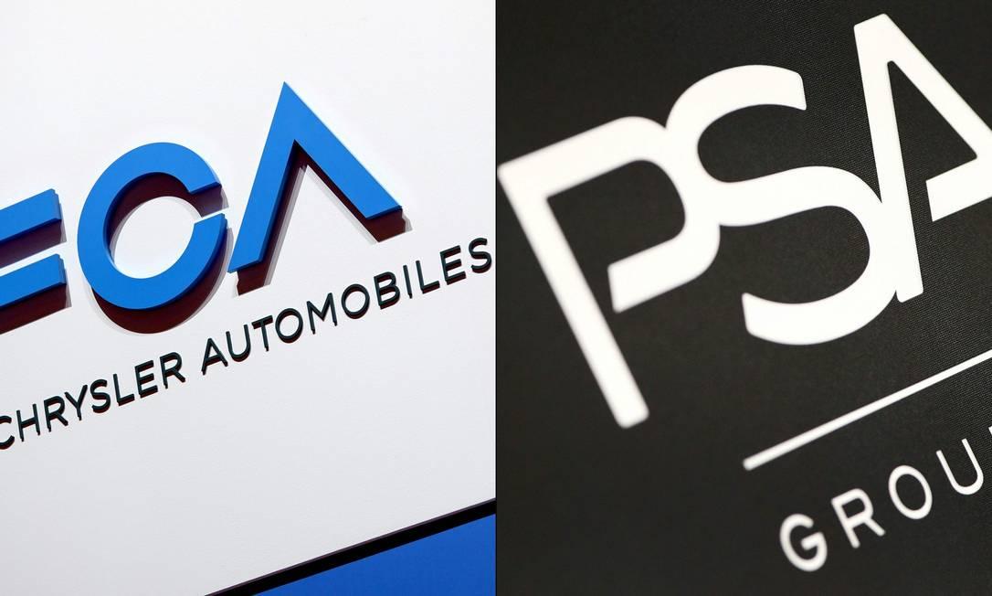 Fiat Chrysler e Peugeot confirmam fusão, que resultaria em montadora de US$ 50 bilhões Foto: Harold CUNNINGHAM and Daniel ROLAND / AFP
