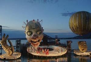 'Rigoletto',obra muito popular encenada no deslumbrante palco flutuante do Festival de Bregenz Foto: Divulgação