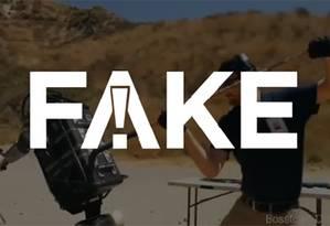 É #FAKE que vídeo mostre robô militar israelense capaz de atirar com precisão sob ataque humano Foto: Reprodução