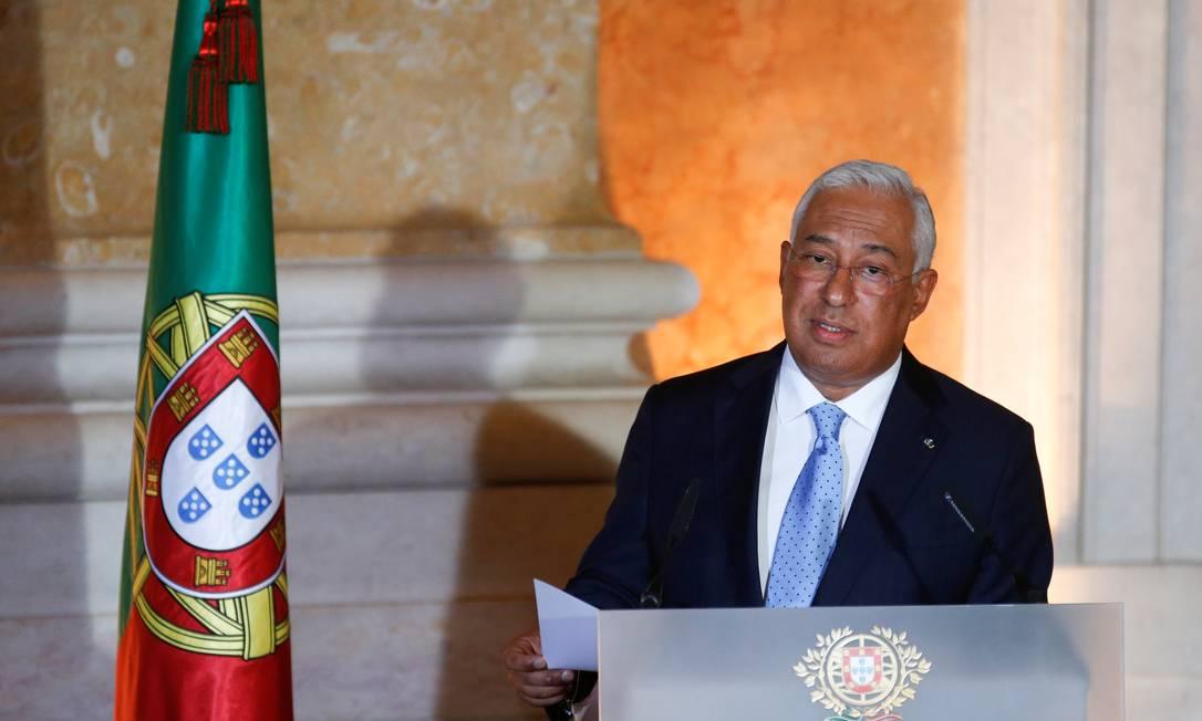 O premier socialista António Costa, que foi reeleito no início de outubro para um segundo mandato Foto: RAFAEL MARCHANTE / REUTERS/26-10-2019
