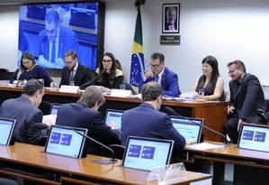 Grupo de trabalho durante votação do relatório do deputado Capitão Augusto (PL-SP) Foto: Cleia Viana/Câmara dos Deputados