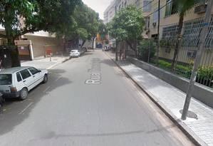 A Rua Theodor Herzl, em Botafogo Foto: Google Street View / Reprodução