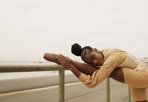 A bailarina Ingrid Silva, em Nova York Foto: Pedro Henrique
