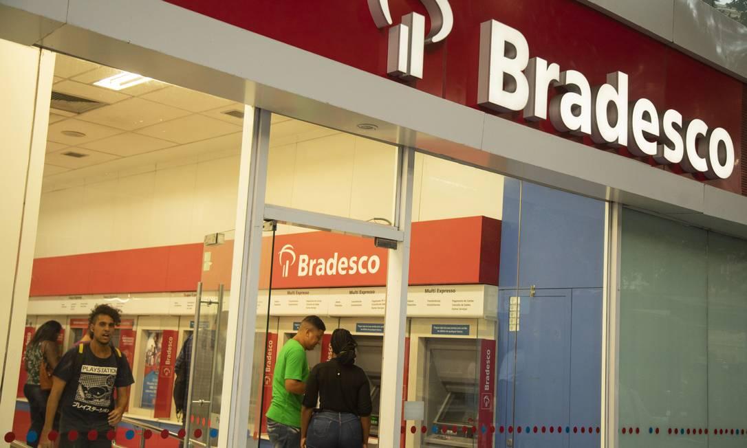 Bradesco vai fechar 400 agências este ano Foto: Gabriel Monteiro/02-04-2019