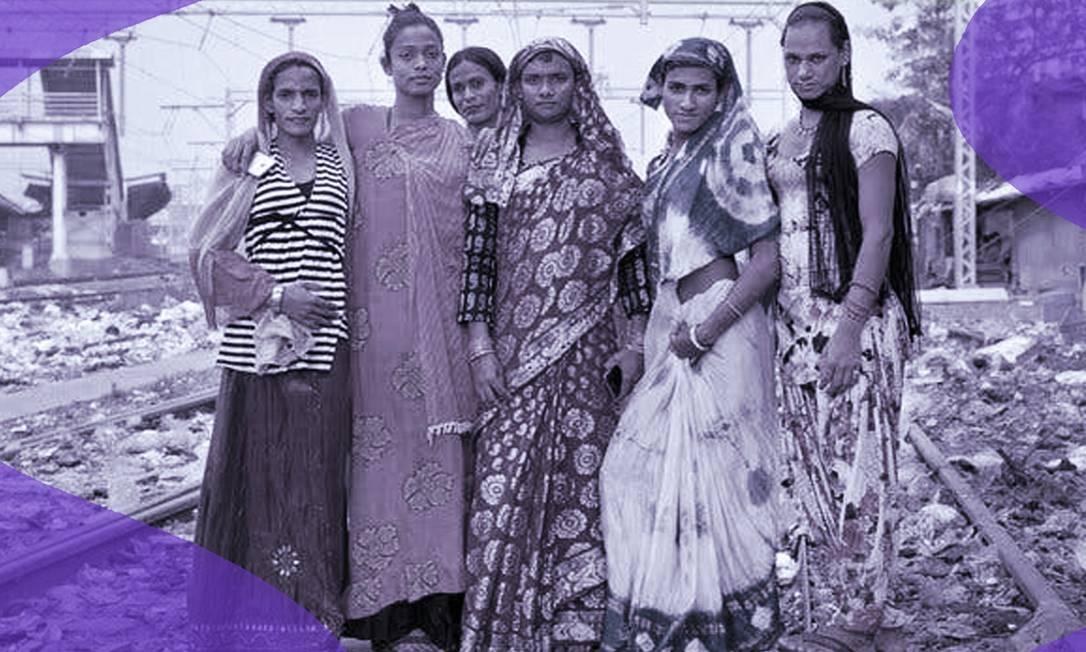Pessoas transgênero da Índia Foto: Arte sobre foto do New York Times