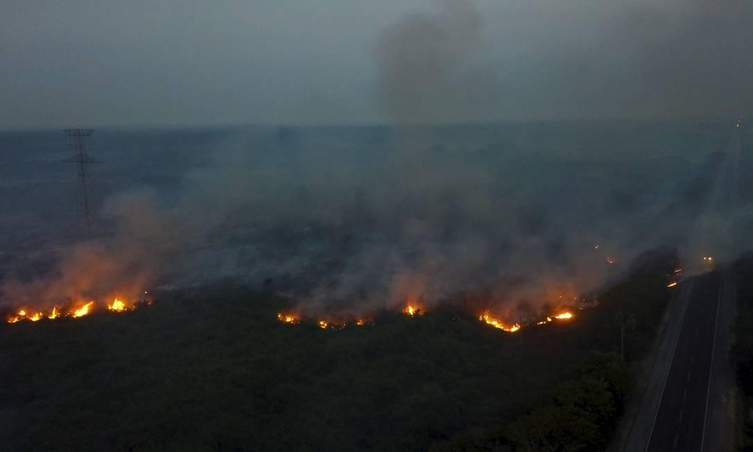 """Incêndio de """"proporções nunca antes registradas"""" estão devastando três municípios da região do Pantanal, no Mato Grosso do Sul Foto: Chico Ribeiro / Governo do Estado do MS"""