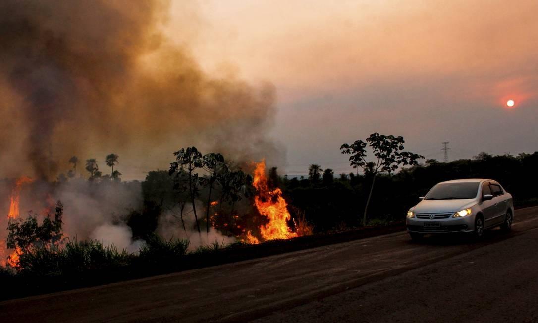 Incêndio generalizado atual é considerado atípico para esta época do ano, que costuma ter maior volume de chuvas Foto: Chico Ribeiro / Governo do Estado do MS