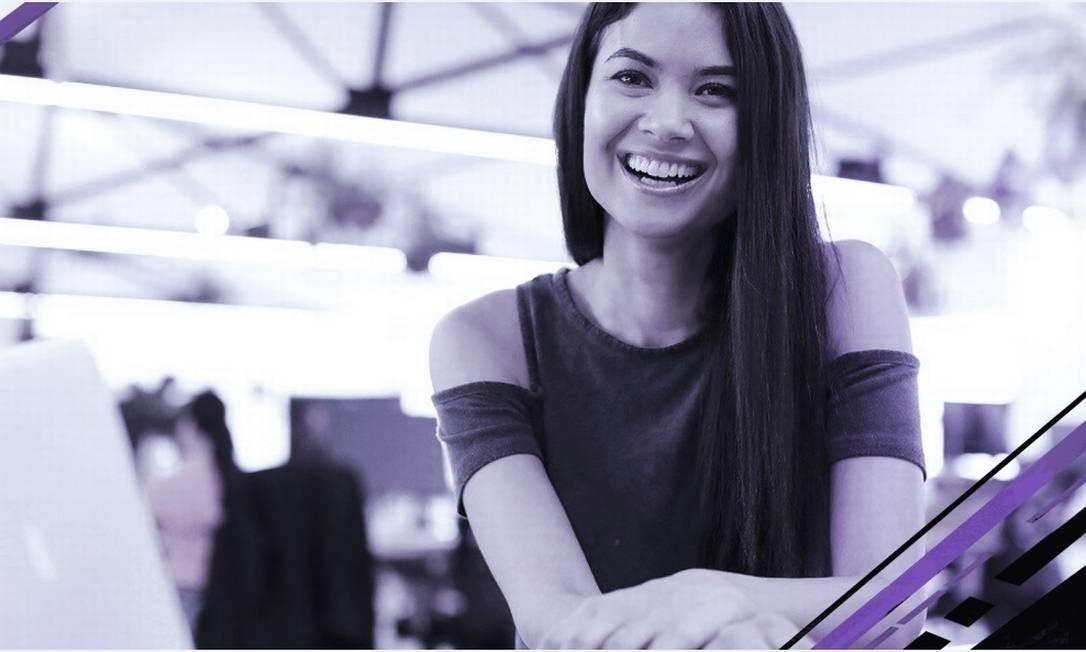 Melanie Perkins, cofundadora e diretora-executiva da Canva Foto: Bloomberg