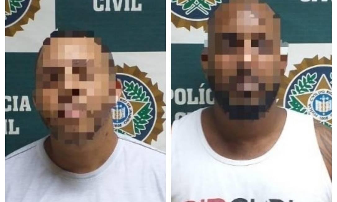 Os dois torcedores presos Foto: Polícia Civil / Divulgação