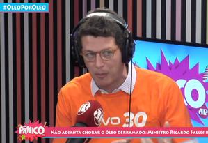 O ministro do Meio Ambiente, Ricardo Salles Foto: Programa Pânico/Divulgação