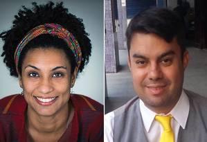 Vereadora Marielle Franco e motorista Anderson Gomes foram mortos em 14 de março de 2018 Foto: Agência O Globo