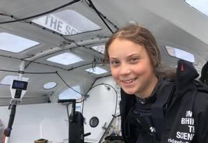 Greta levou 13 dias para chegar aos EUA de veleiro saindo da Inglaterra Foto: Divulgação/Facebook
