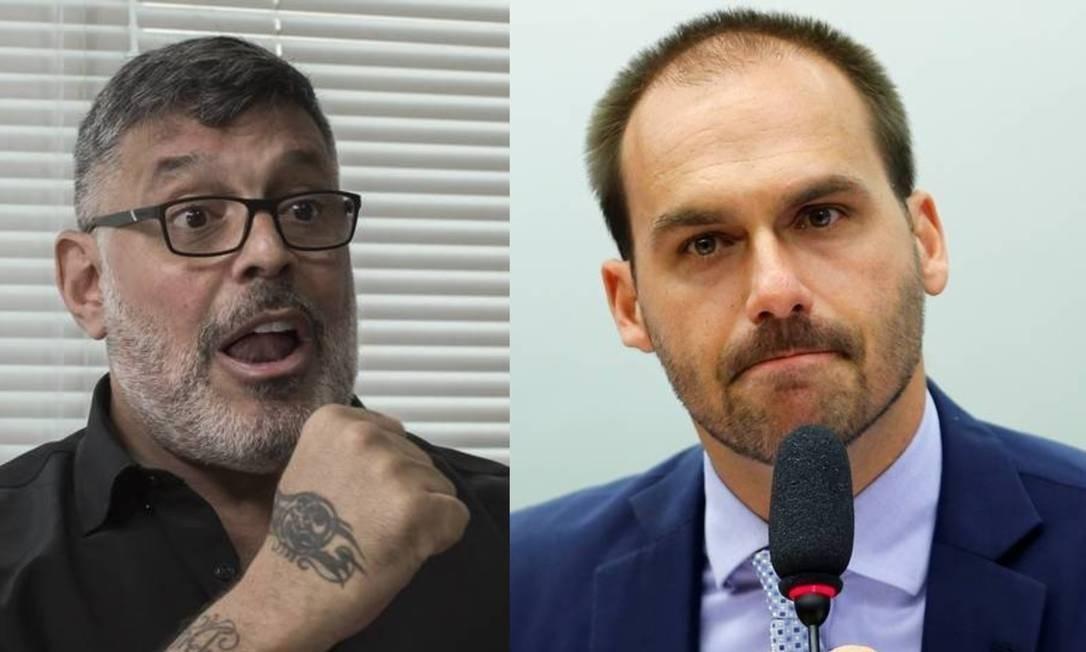 Alexandre Frota e Eduardo Bolsonaro Foto: Edilson Dantas/Agência O Globo e Adriano Machado/Reuters