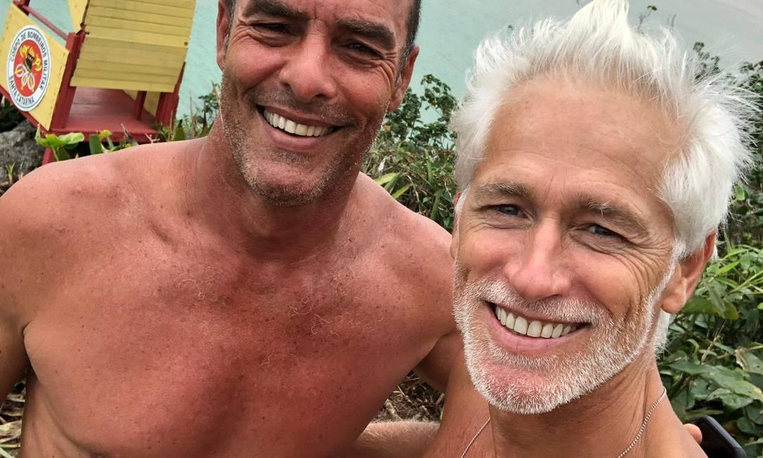 Paulo Zulu, de 56 anos, e Jotge Gelati (à dir.), de 54 anos Foto: Arquivo Pessoal