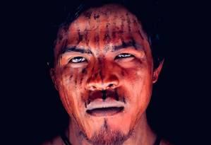 O indígena e 'guardião da floresta', Paulo Paulino Guajajara, morto nesta sexta-feira em uma emboscada Foto: Reprodução Mídia Índia