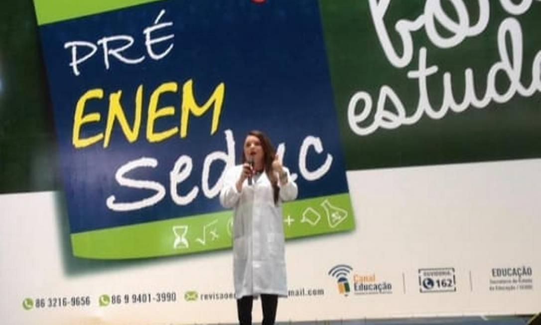Preparatório da Secretaria de Educação do Piauí já falava sobre a importância do acesso à cultura Foto: reprodução