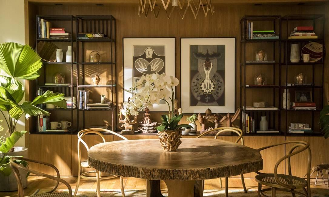 """Sala de jantar de Vitória (Taís Araújo), uma das protagonistas da próxima novela das 21h, """"Amor de mãe"""" Foto: João Cotta / TV Globo"""