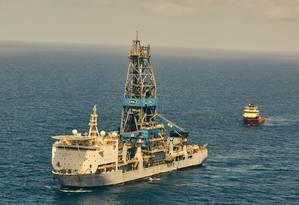 O navio-plataforma Bob Douglas operado pela Noble Energy para a Exxon Mobil, na Guiana Foto: The New York Times