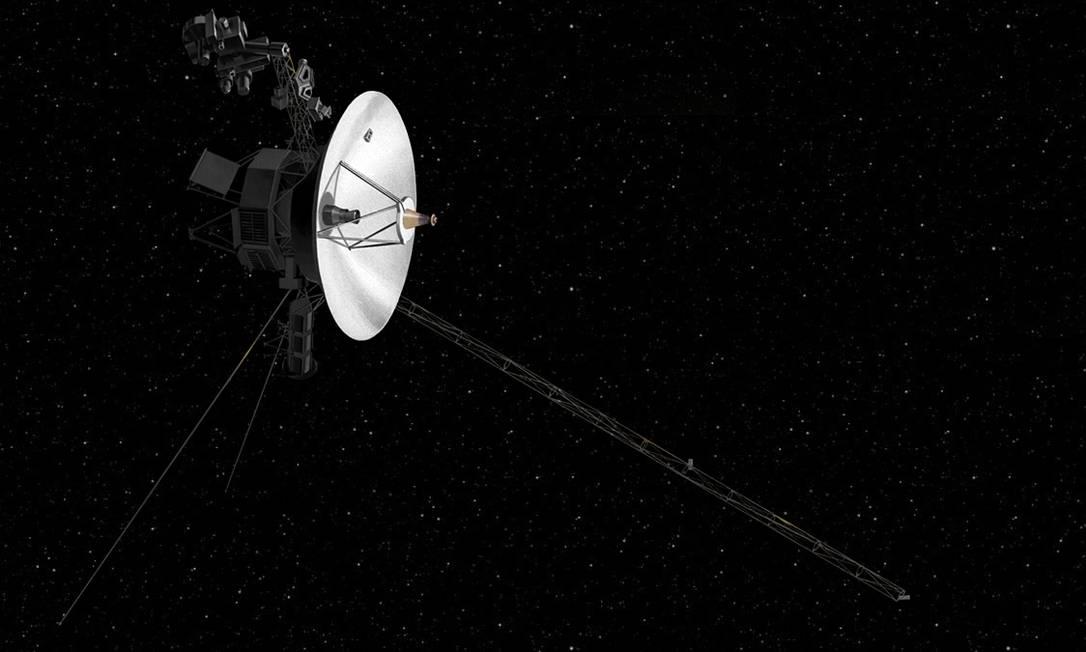 Ilustração mostra a sonda espacial Voyager 2, da Nasa Foto: JPL/Nasa
