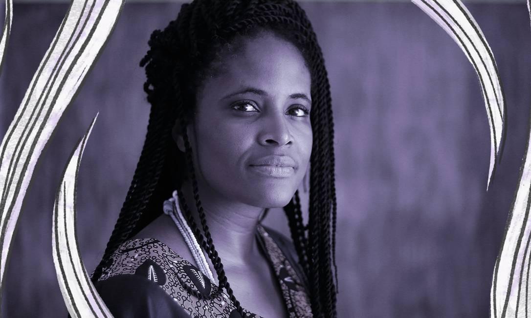 Djamila Ribeiro, nome importante do feminismo negro brasileiro Foto: Arte sobre foto de Marcos Alves