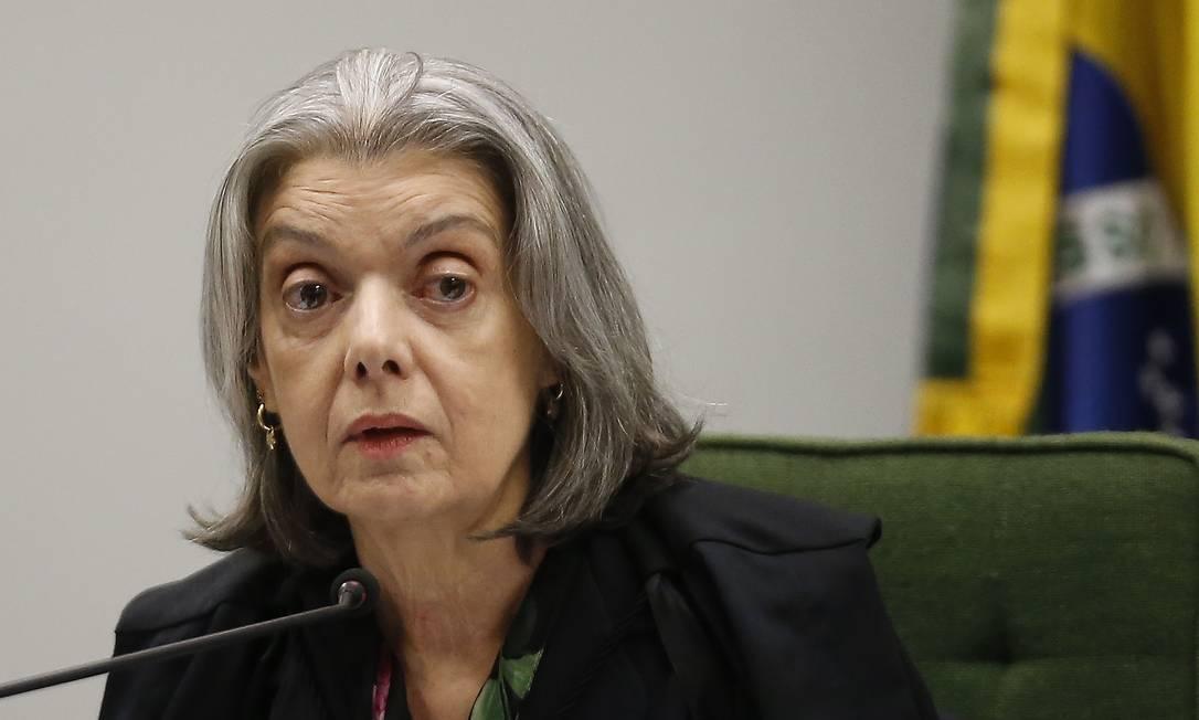Cármen Lúcia, ministra do Supremo Tribunal Federal (STF) Foto: Jorge William / Agência O Globo