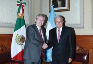 Fernández e López Obrador, na Cidade do México Foto: Divulgação