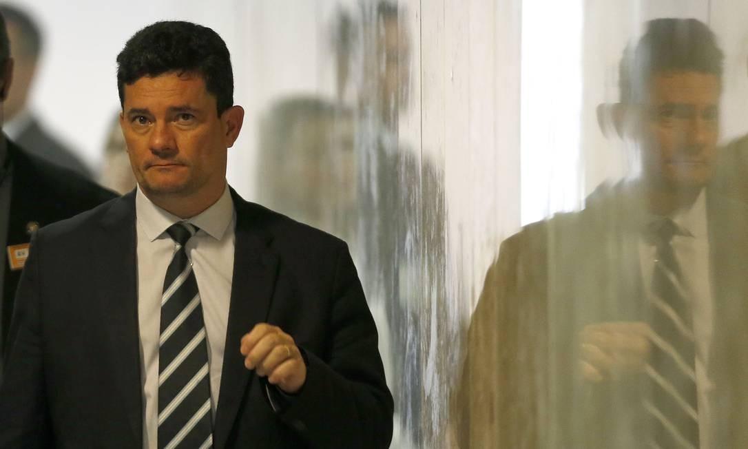 Ministro da Justiça, Sérgio Moro Foto: Jorge William / Agência O Globo