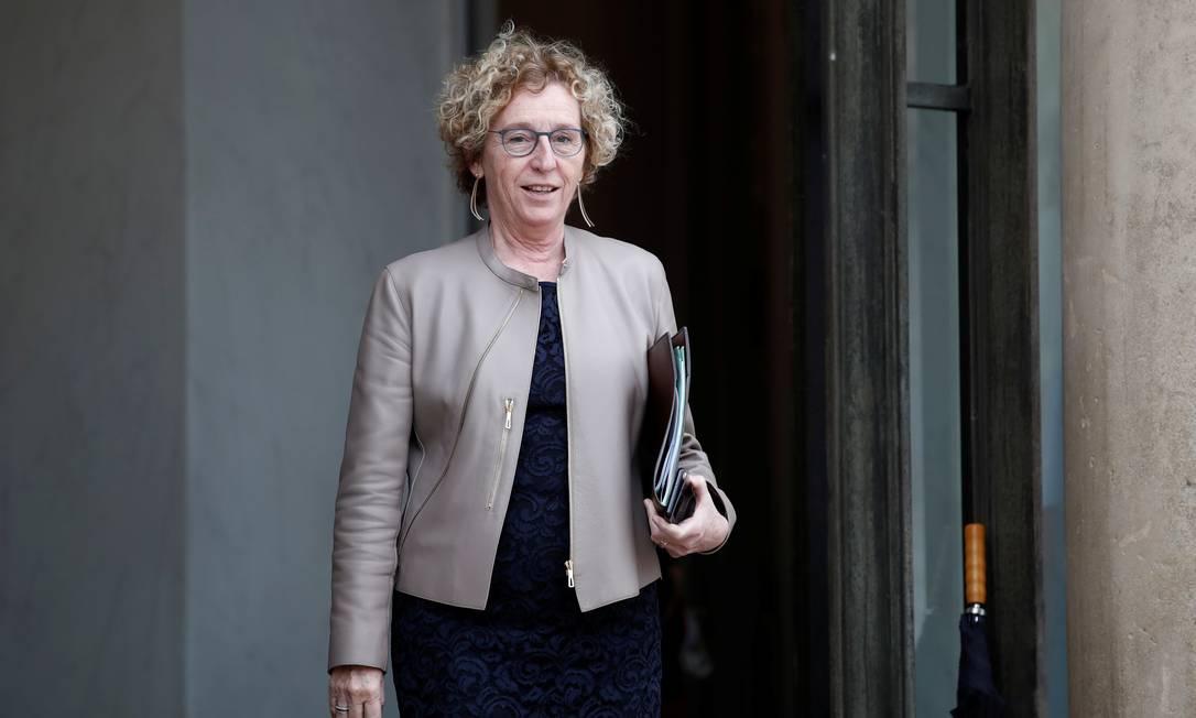 Ministra do Trabalho da França, Muriel Pénicaud, após encontro em Paris Foto: BENOIT TESSIER / REUTERS