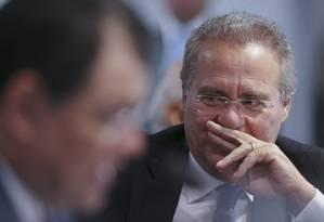 Renan Calheiros (AL) é um dos políticos suspeitos de receberem propina da JBS Foto: Ailton de Freitas / Agência O Globo