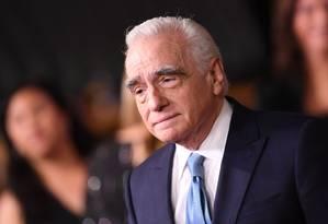 Martin Scorsese durante a première de 'O irlandês', em Los Angeles Foto: VALERIE MACON / AFP